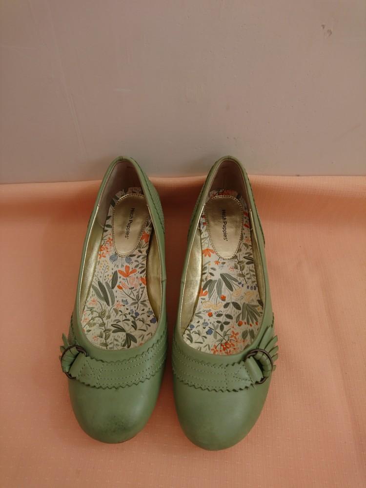 Туфли зелёные на маленьком каблуке размер 38 фото №1