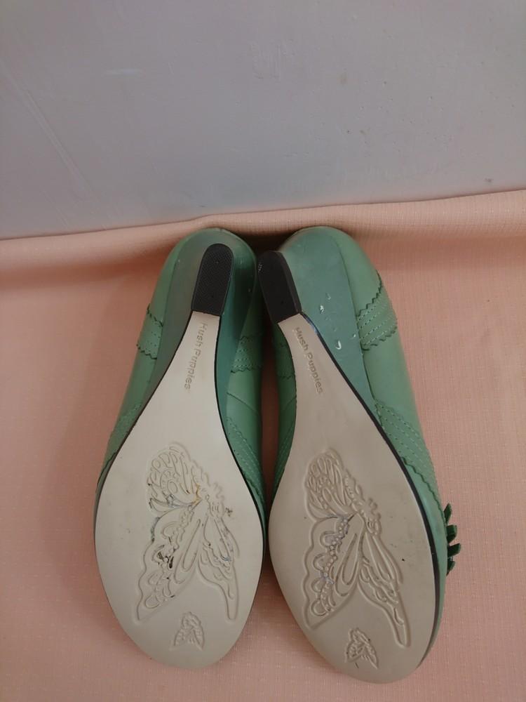 Туфли зелёные на маленьком каблуке размер 38 фото №9