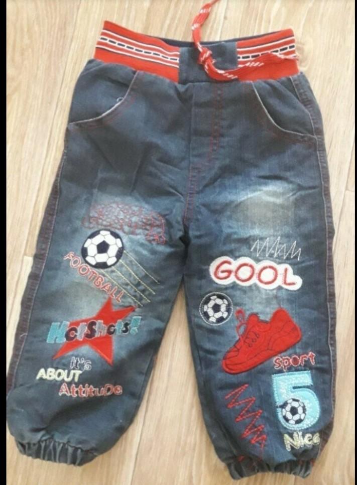 Новые джинсы на махре размер до года фото №2