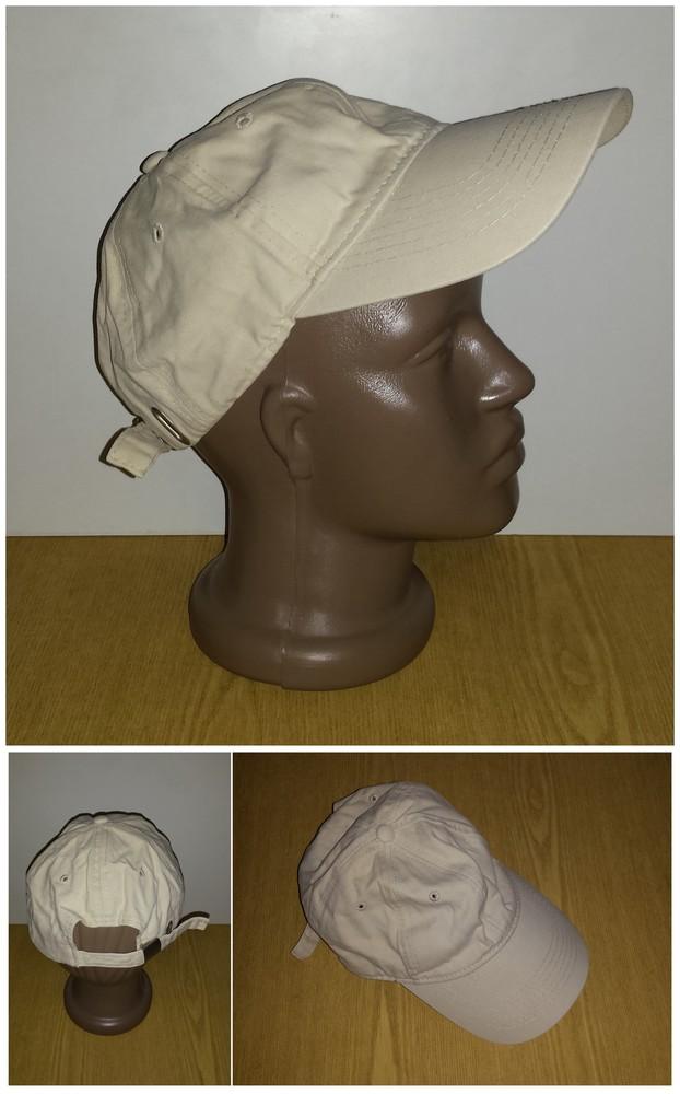 Одежда вещи головной убор кепка бейсболка светлая коттон хлопок обхват 56 см фото №1