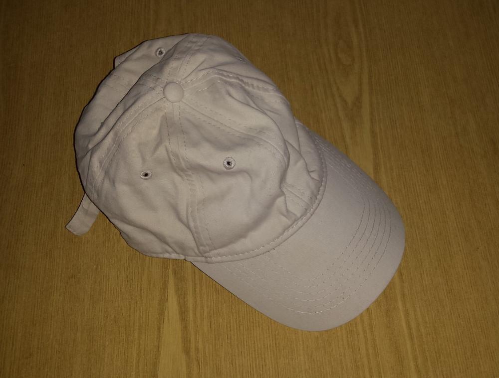 Одежда вещи головной убор кепка бейсболка светлая коттон хлопок обхват 56 см фото №3