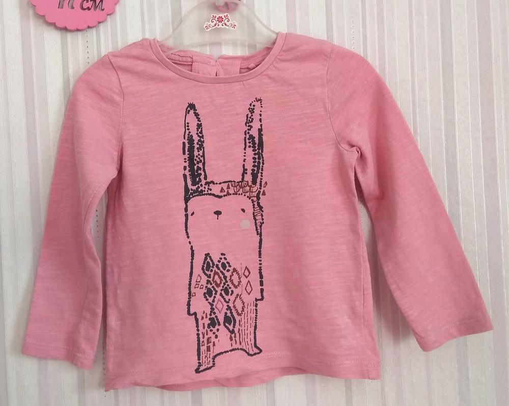Персиковый реглан с кроликом next р. 12-18 мес фото №1