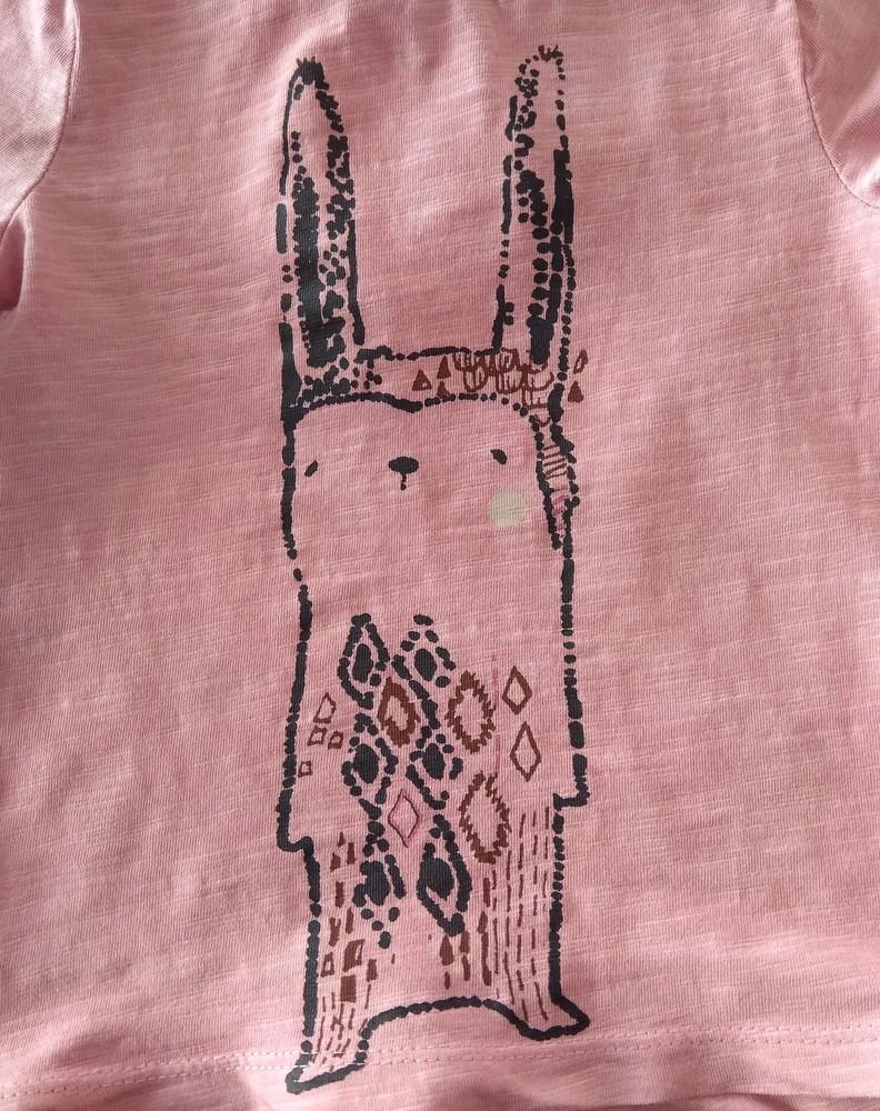 Персиковый реглан с кроликом next р. 12-18 мес фото №3