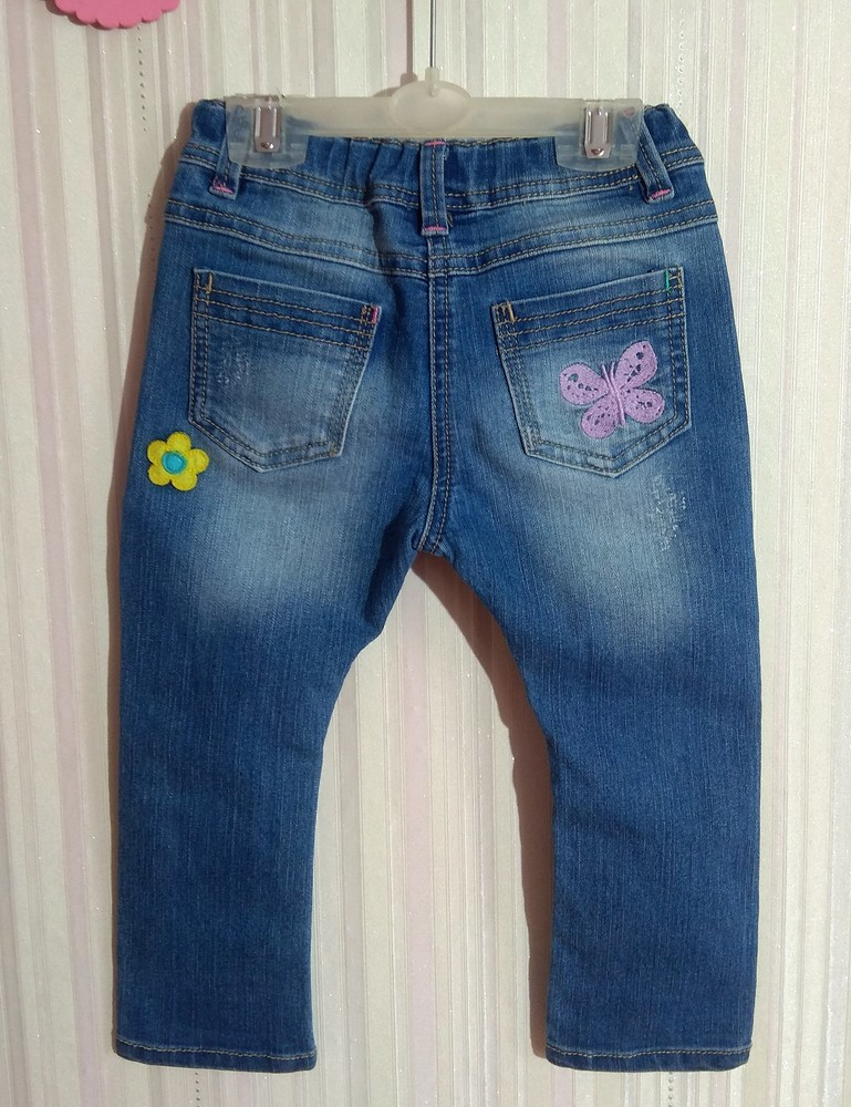 Крутые джинсы next с мультяшками р. 12-18 мес фото №3