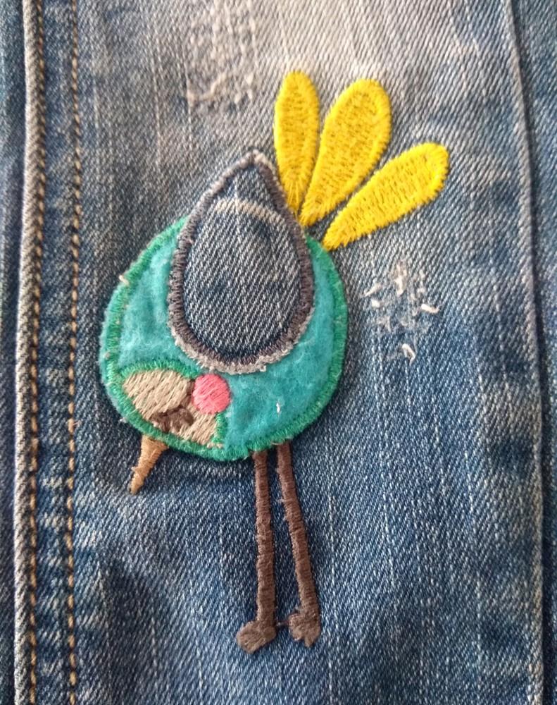Крутые джинсы next с мультяшками р. 12-18 мес фото №6