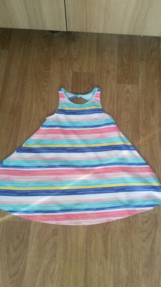 Шикарное радужное платьице tu на девочку 5 лет фото №1