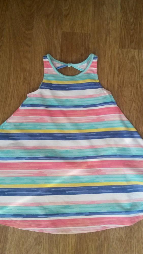 Шикарное радужное платьице tu на девочку 5 лет фото №2