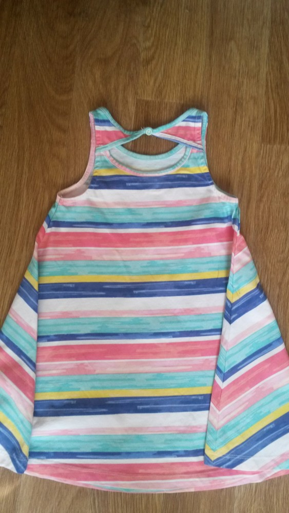 Шикарное радужное платьице tu на девочку 5 лет фото №3
