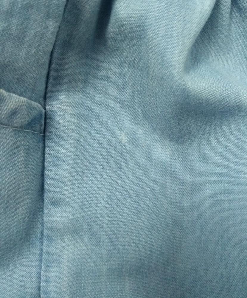 Нежное бело-голубое платье с оборками р. 3-4 года фото №6