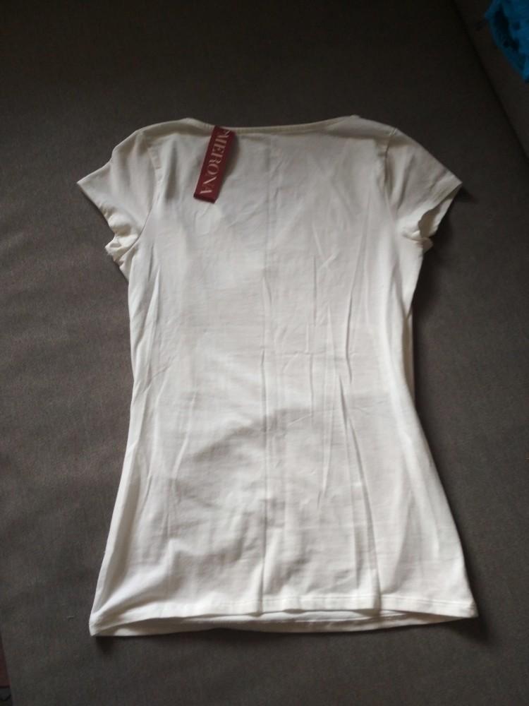 Белая футболка туника merona usa, новая, с запахом на груди, хлопок, размер xs фото №9