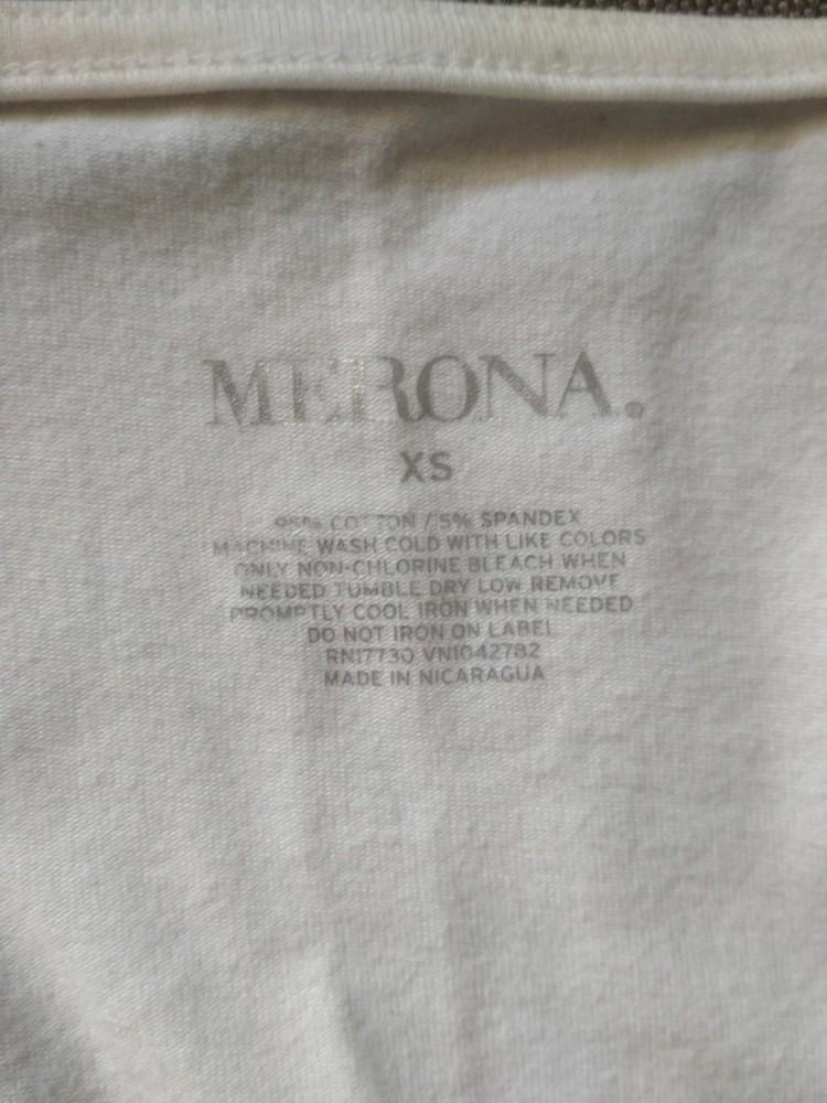 Белая футболка туника merona usa, новая, с запахом на груди, хлопок, размер xs фото №7