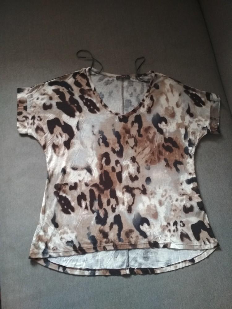 Женская футболка dex (сша), новая, леопард, вискоза, размер s фото №9