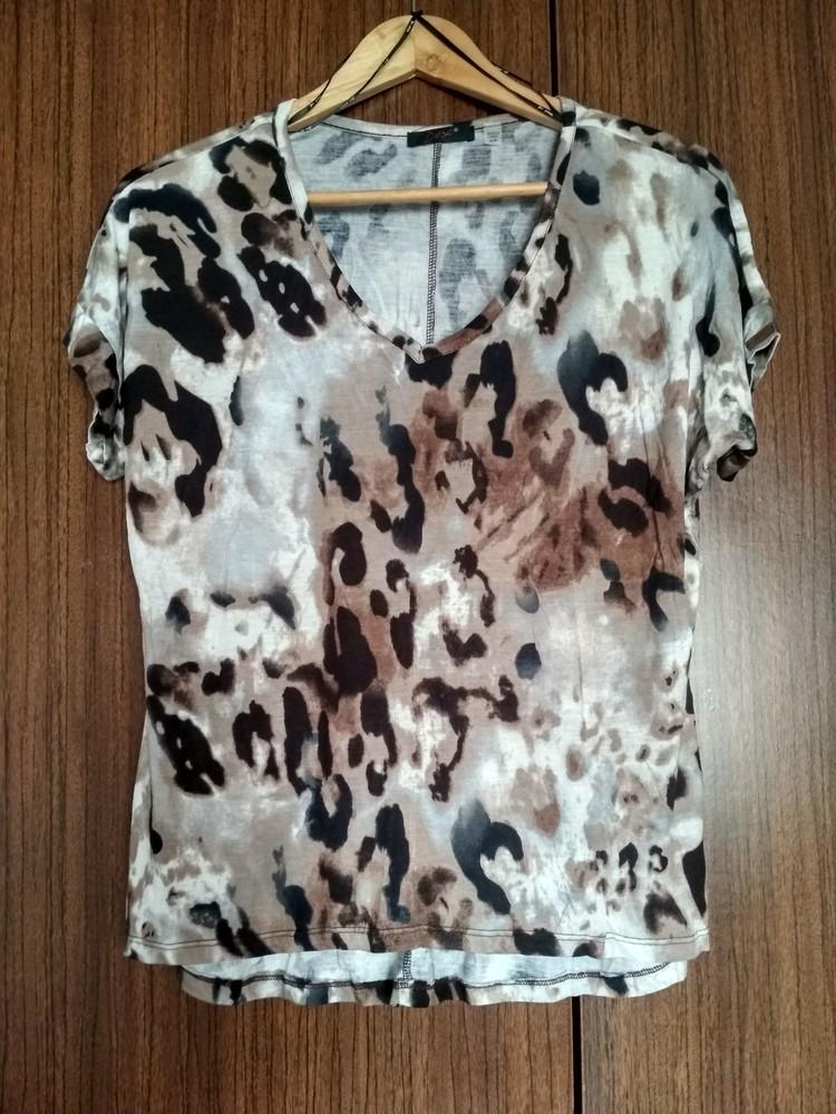 Женская футболка dex (сша), новая, леопард, вискоза, размер s фото №1