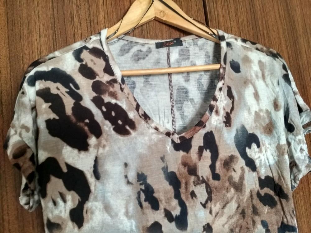 Женская футболка dex (сша), новая, леопард, вискоза, размер s фото №2