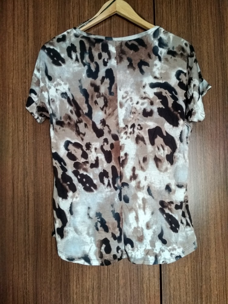 Женская футболка dex (сша), новая, леопард, вискоза, размер s фото №3