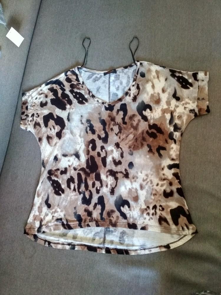 Женская футболка dex (сша), новая, леопард, вискоза, размер s фото №4
