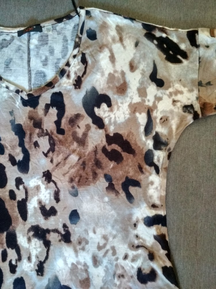 Женская футболка dex (сша), новая, леопард, вискоза, размер s фото №6