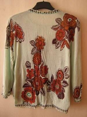 Блуза женская, летняя, этно стиль, хлопок-марлевка, наш р.48-50 фото №2