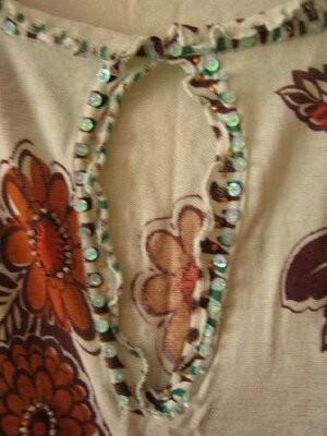 Блуза женская, летняя, этно стиль, хлопок-марлевка, наш р.48-50 фото №3
