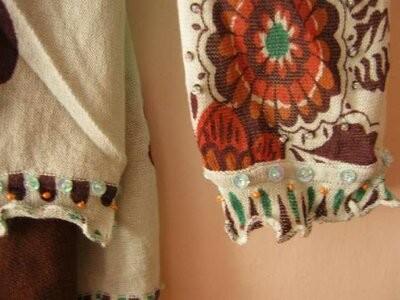 Блуза женская, летняя, этно стиль, хлопок-марлевка, наш р.48-50 фото №4