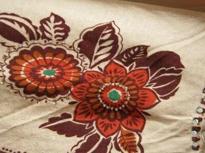 Блуза женская, летняя, этно стиль, хлопок-марлевка, наш р.48-50 фото №5