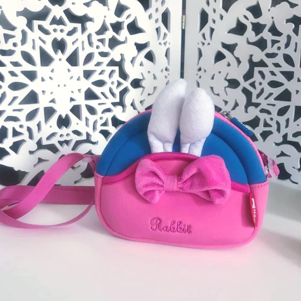 Nohoo сумка rabbit - с ушками кролика и бантиком, много отделений фото №1