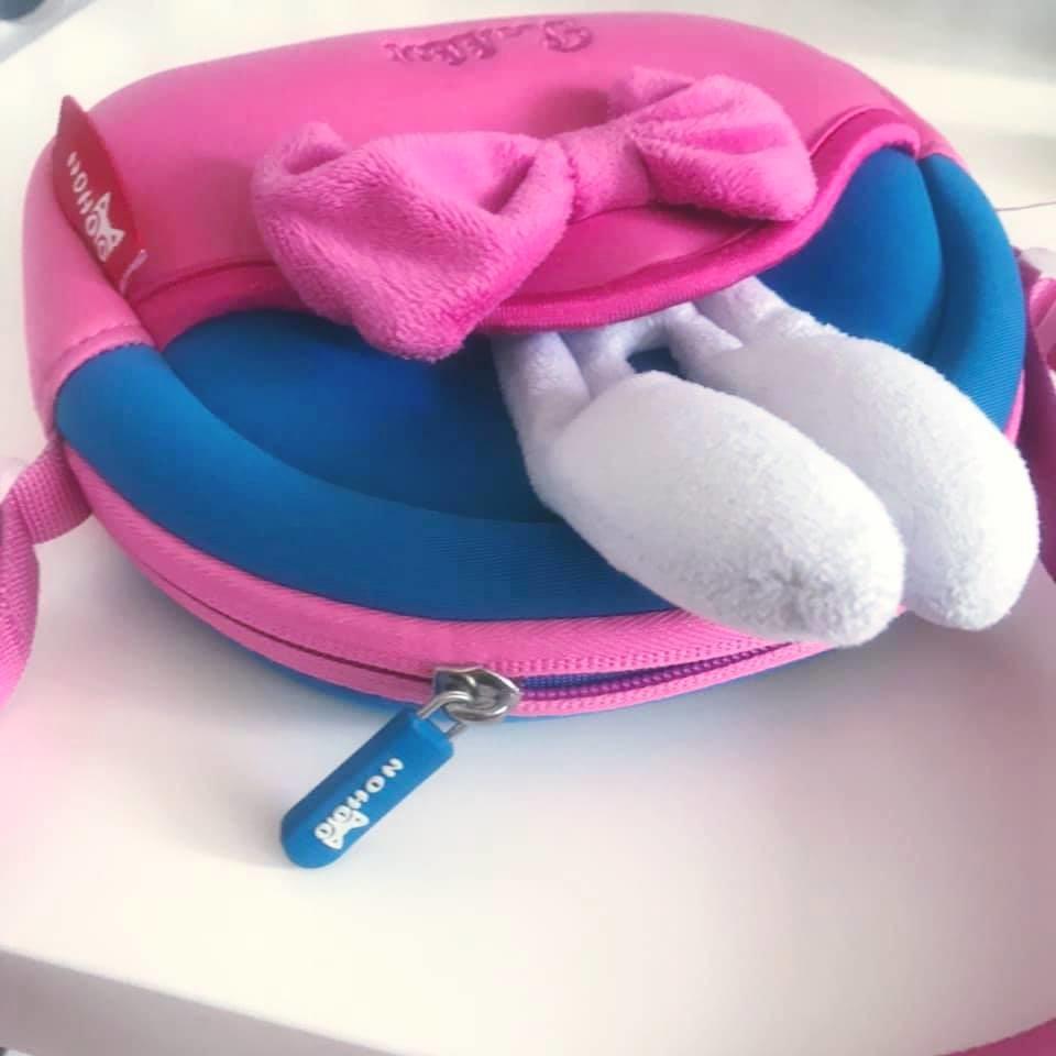 Nohoo сумка rabbit - с ушками кролика и бантиком, много отделений фото №2