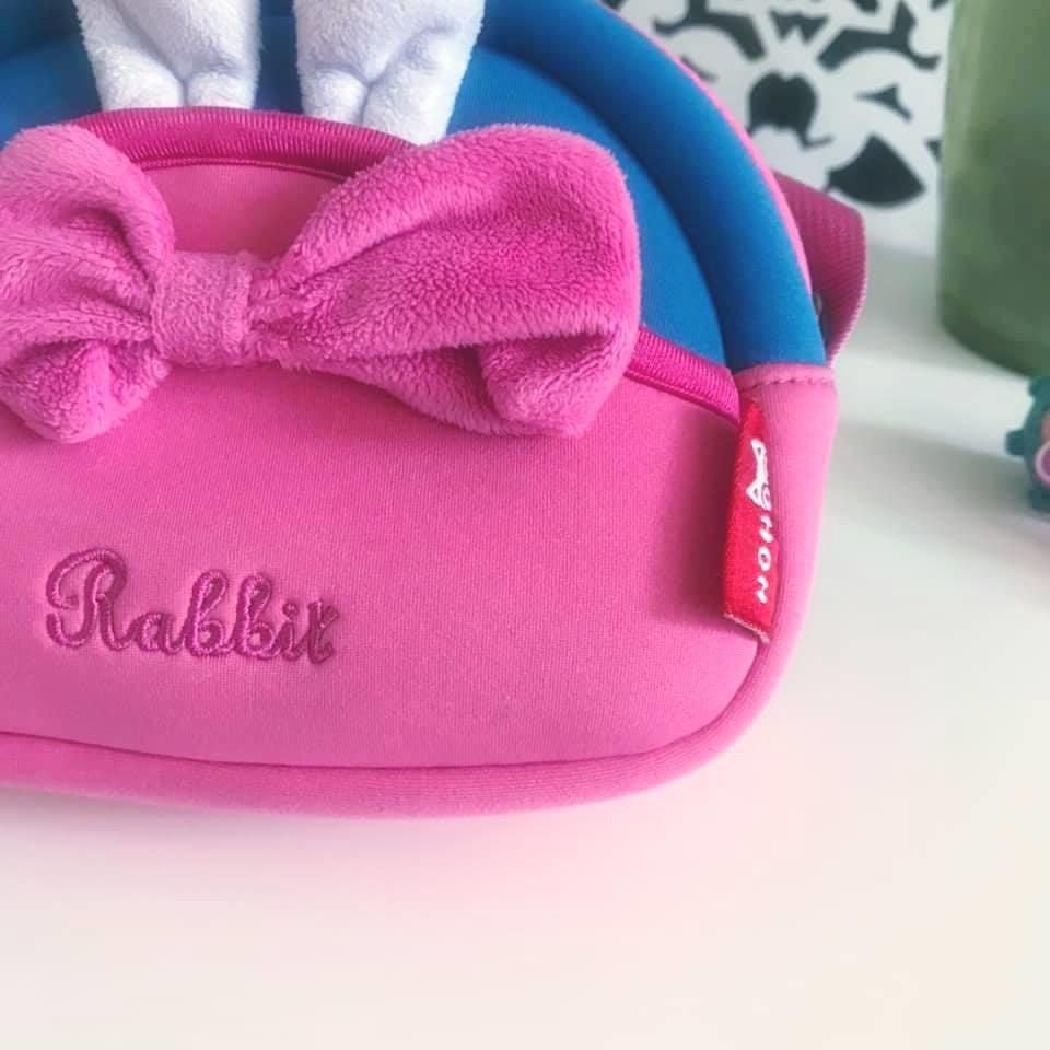 Nohoo сумка rabbit - с ушками кролика и бантиком, много отделений фото №3