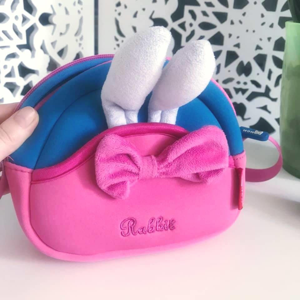 Nohoo сумка rabbit - с ушками кролика и бантиком, много отделений фото №4