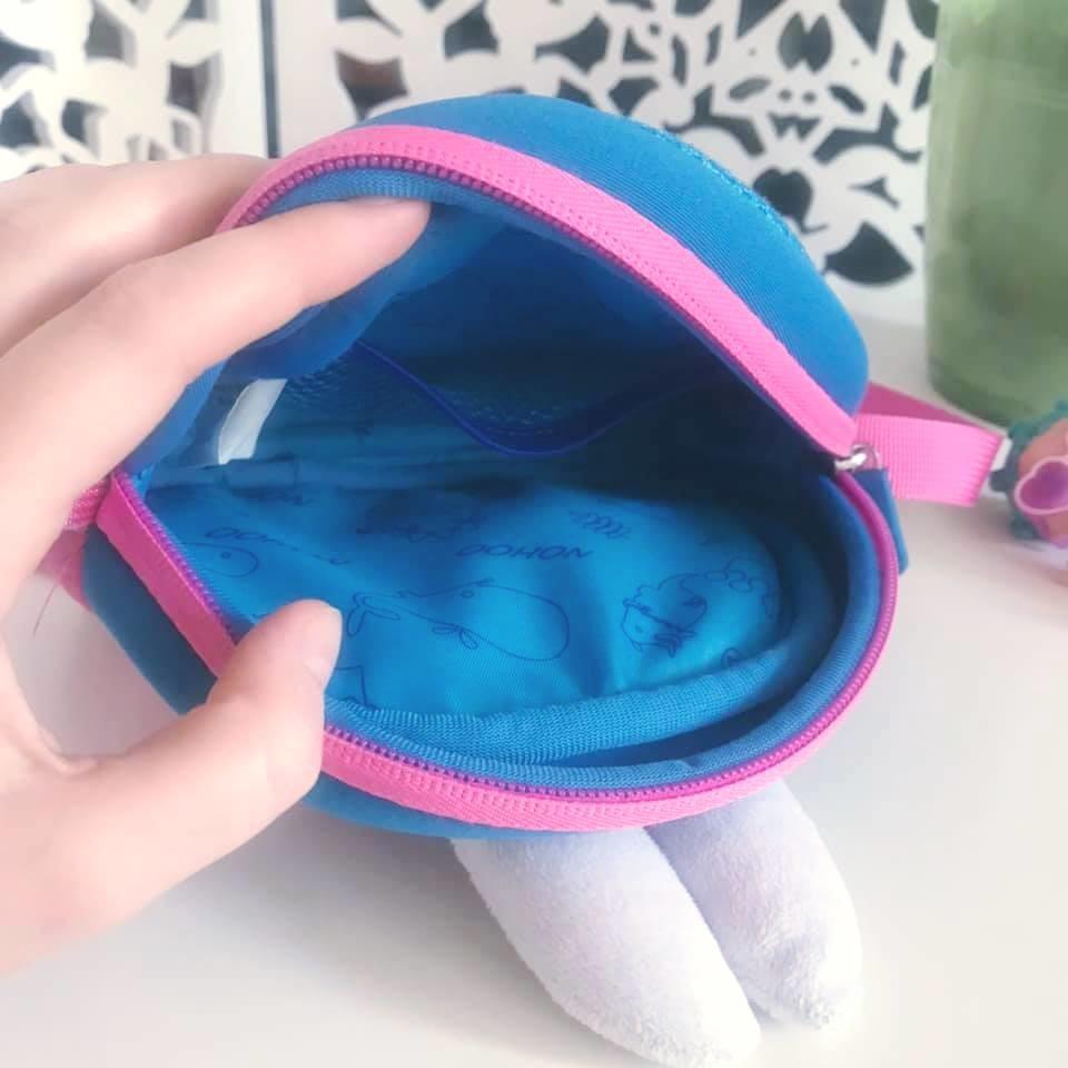 Nohoo сумка rabbit - с ушками кролика и бантиком, много отделений фото №6