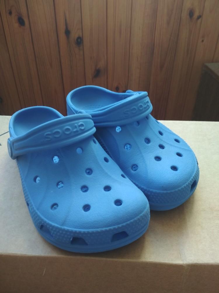 Кроксы синие crocs, оригинал из сша, мальчику девочке, размер us c10/11 (27-28) 18 см фото №1