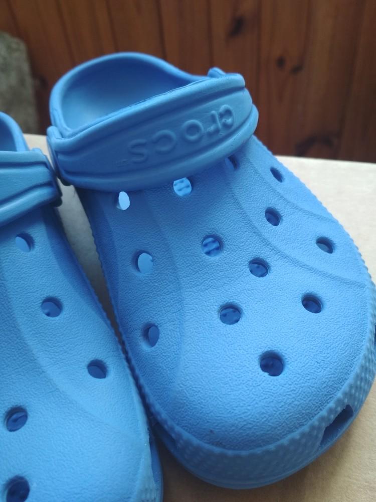Кроксы синие crocs, оригинал из сша, мальчику девочке, размер us c10/11 (27-28) 18 см фото №3