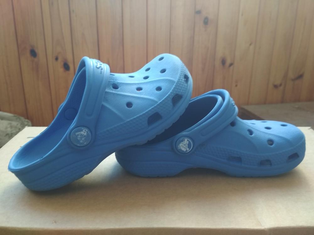 Кроксы синие crocs, оригинал из сша, мальчику девочке, размер us c10/11 (27-28) 18 см фото №4