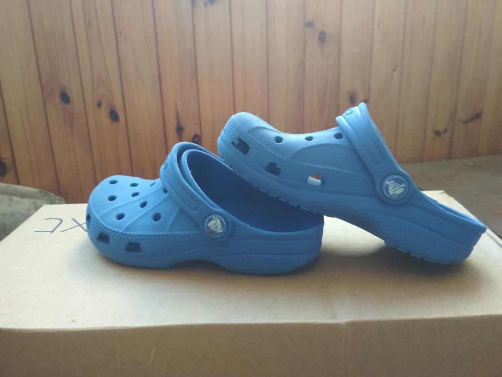 Кроксы синие crocs, оригинал из сша, мальчику девочке, размер us c10/11 (27-28) 18 см фото №5