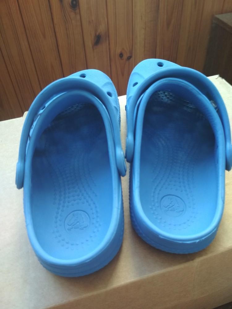 Кроксы синие crocs, оригинал из сша, мальчику девочке, размер us c10/11 (27-28) 18 см фото №6