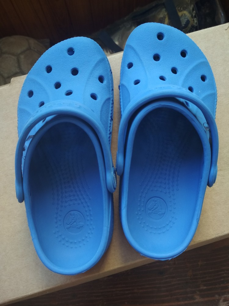 Кроксы синие crocs, оригинал из сша, мальчику девочке, размер us c10/11 (27-28) 18 см фото №7