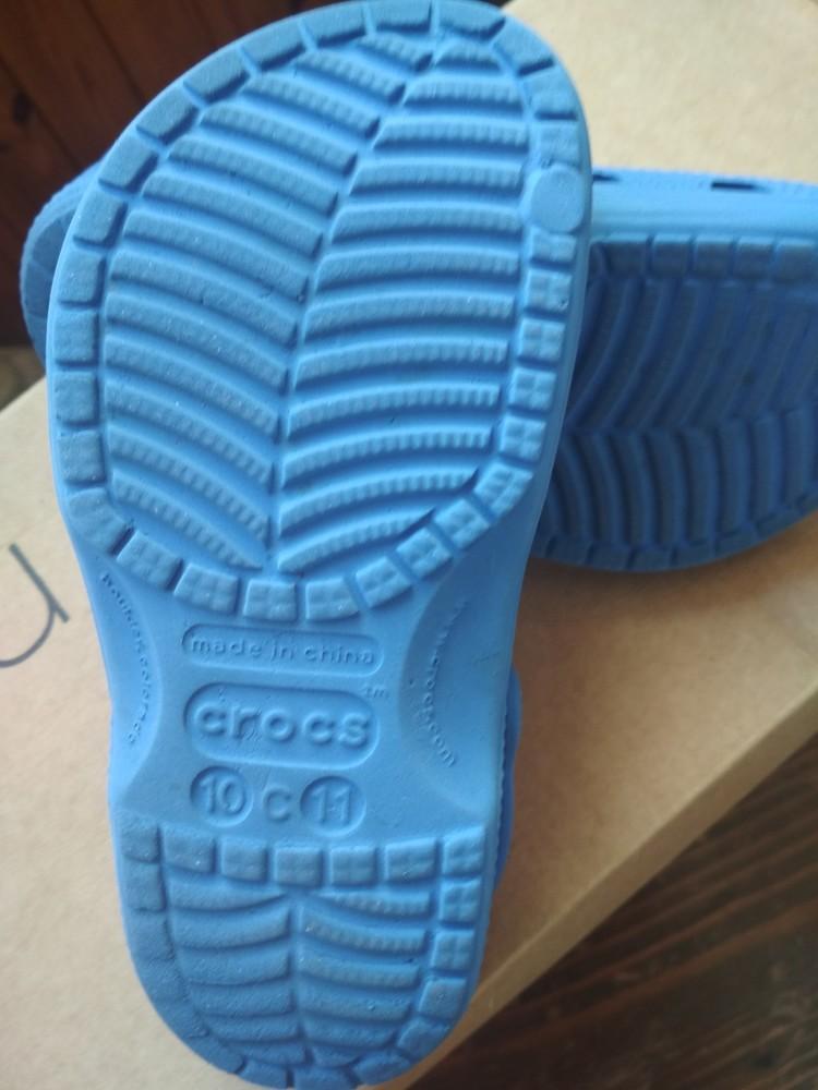 Кроксы синие crocs, оригинал из сша, мальчику девочке, размер us c10/11 (27-28) 18 см фото №8