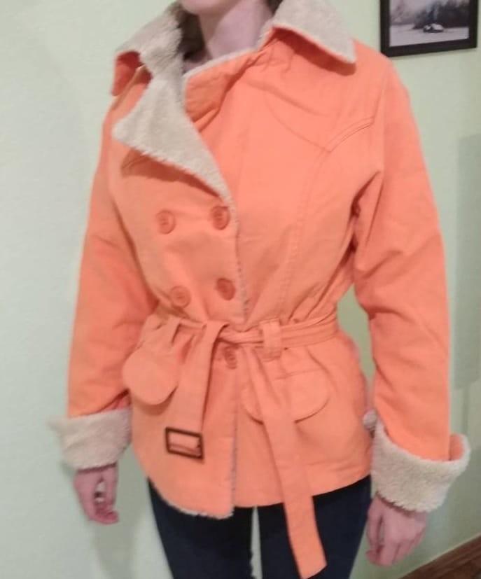 Тканева курточка на штучному хутрі фото №1