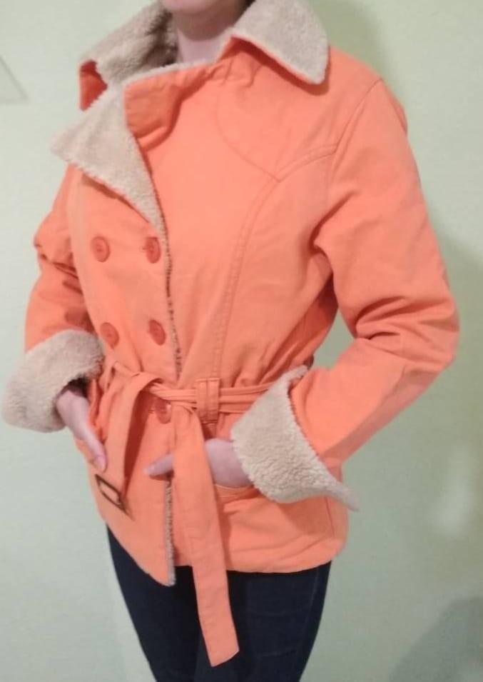 Тканева курточка на штучному хутрі фото №2