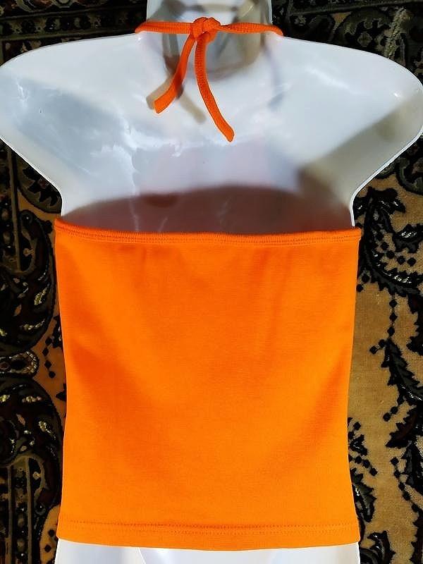 Майка топ оранжевый без пятен фото №3
