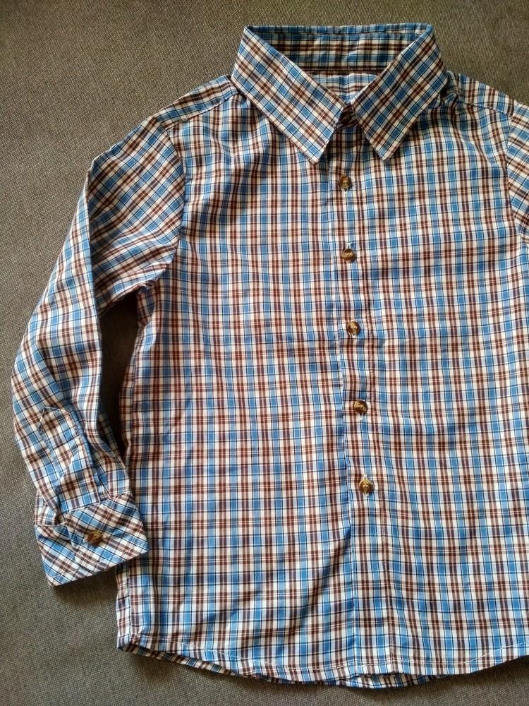 Рубашка swiss cross сша, синяя в клетку, тонкая – размер 5, мальчику на 5 лет фото №2
