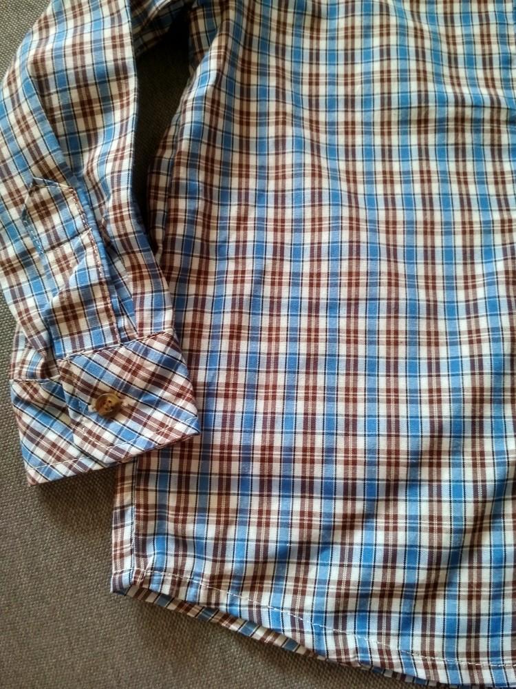 Рубашка swiss cross сша, синяя в клетку, тонкая – размер 5, мальчику на 5 лет фото №4