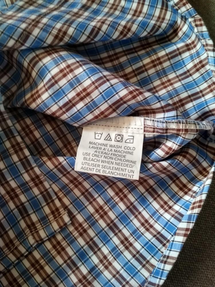 Рубашка swiss cross сша, синяя в клетку, тонкая – размер 5, мальчику на 5 лет фото №7