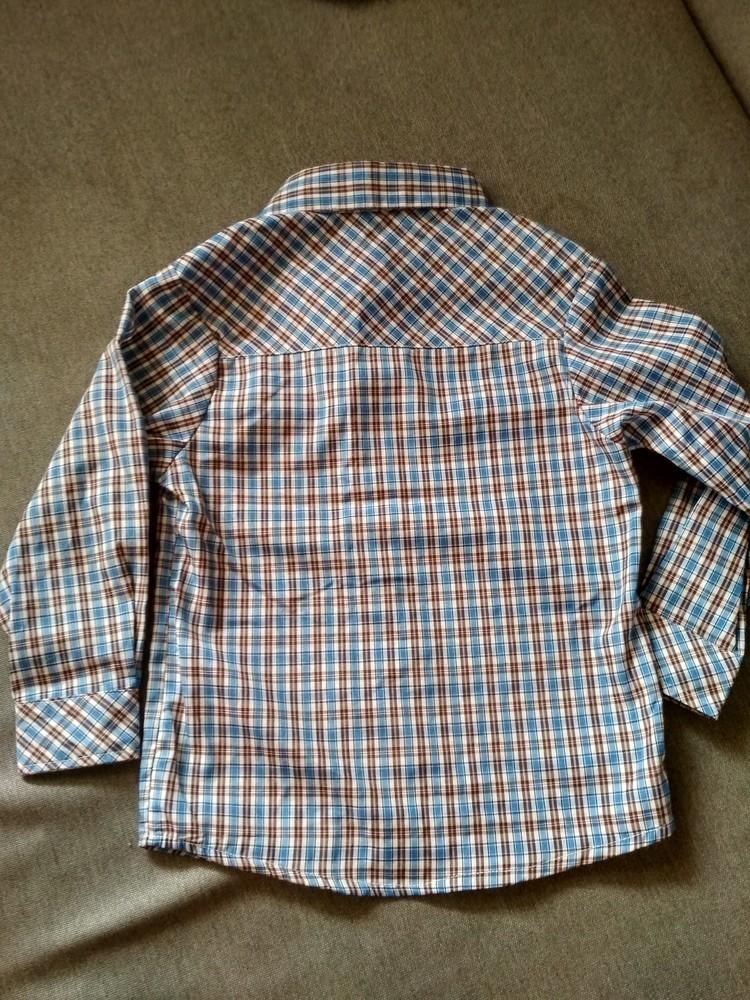 Рубашка swiss cross сша, синяя в клетку, тонкая – размер 5, мальчику на 5 лет фото №8