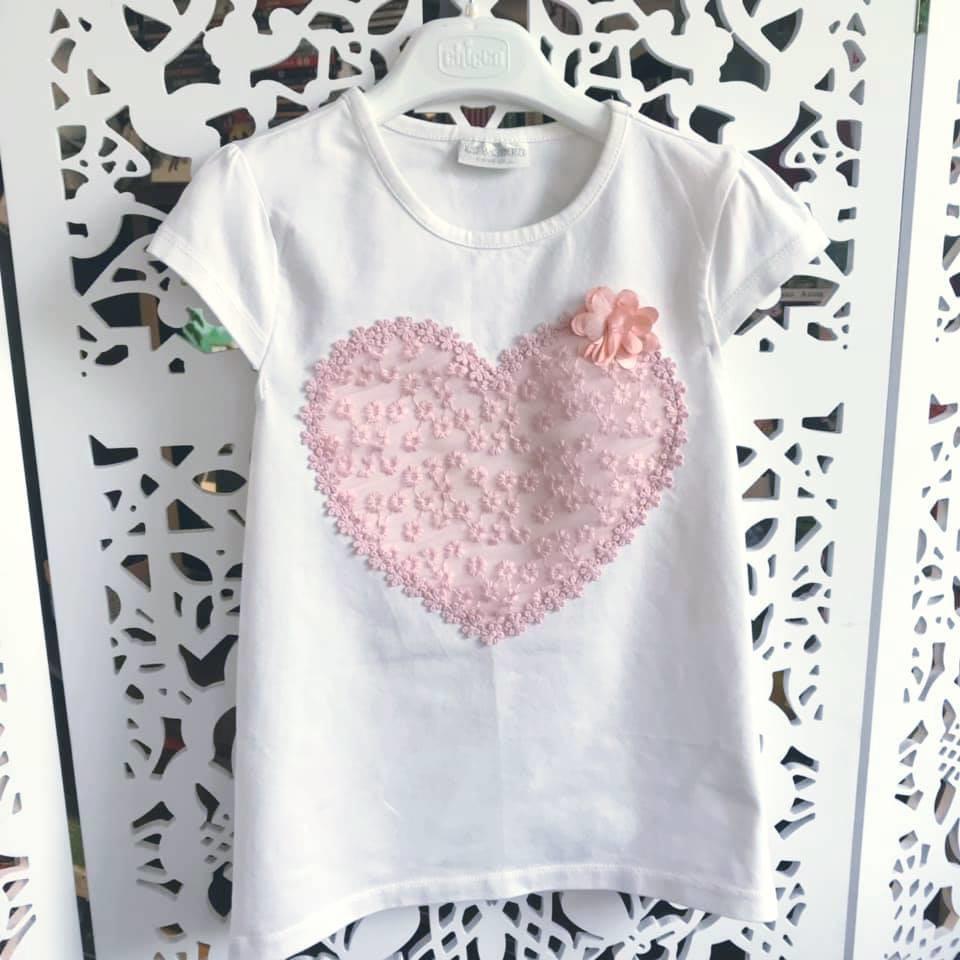 Школа - lc waikiki - футболка c гипюровым сердцем р122-134 фото №1