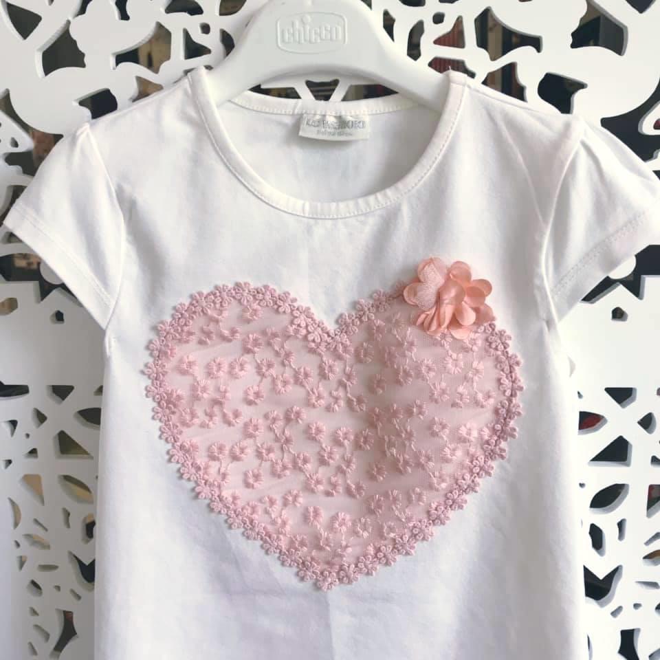 Школа - lc waikiki - футболка c гипюровым сердцем р122-134 фото №2