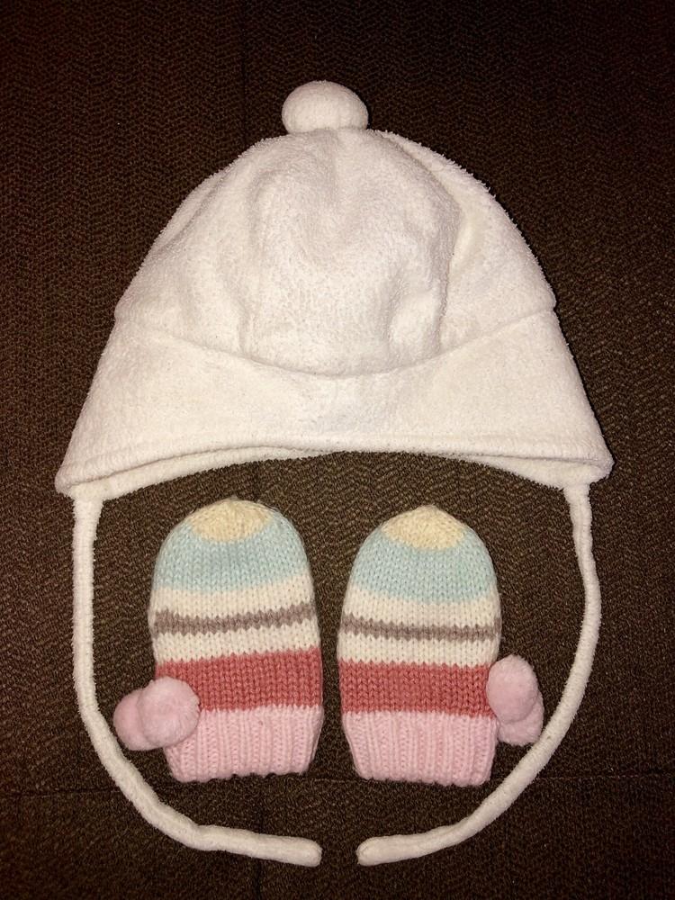 Шапочка и рукавички для маленькой принцессы baby-baby фото №1