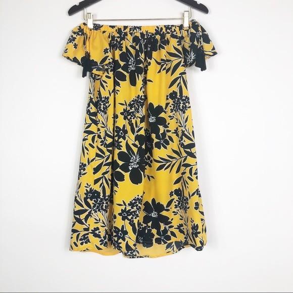 Primark легкое платье с открытыми плечами, р.8-36 фото №1