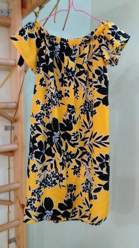 Primark легкое платье с открытыми плечами, р.8-36 фото №3