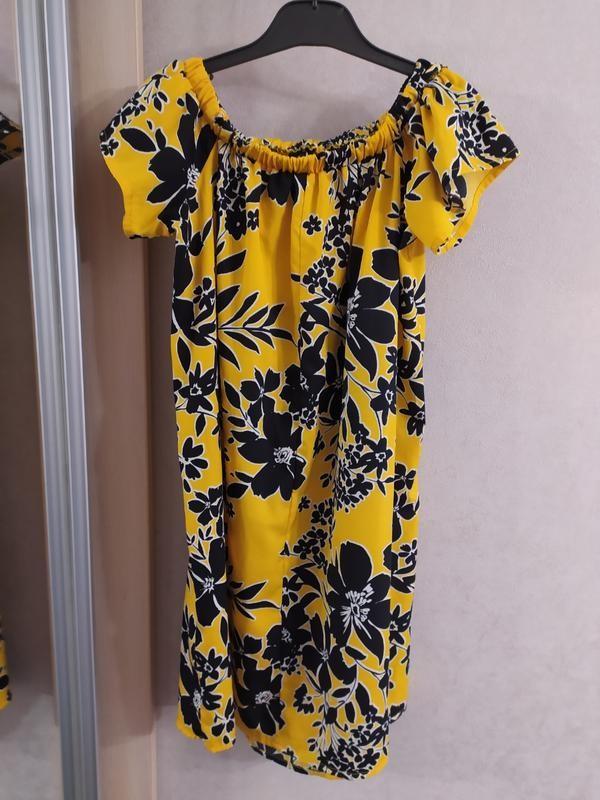 Primark легкое платье с открытыми плечами, р.8-36 фото №8